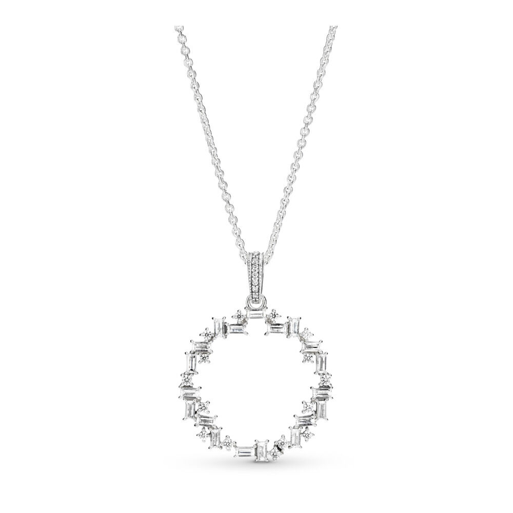 shards of sparkle necklace sterling silver cubic zirconia sho