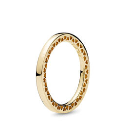 Classic Hearts of PANDORA Ring, Yellow Gold 14 k - PANDORA - #156238