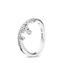 Chandelier Droplets Ring, Sterling silver, Cubic Zirconia - PANDORA - #197108CZ