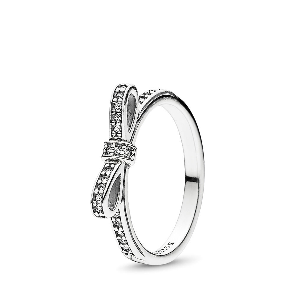7ed27b0d7 ... sale delicate bow ring sterling silver cubic zirconia pandora 190906cz  8c159 7db24 ...