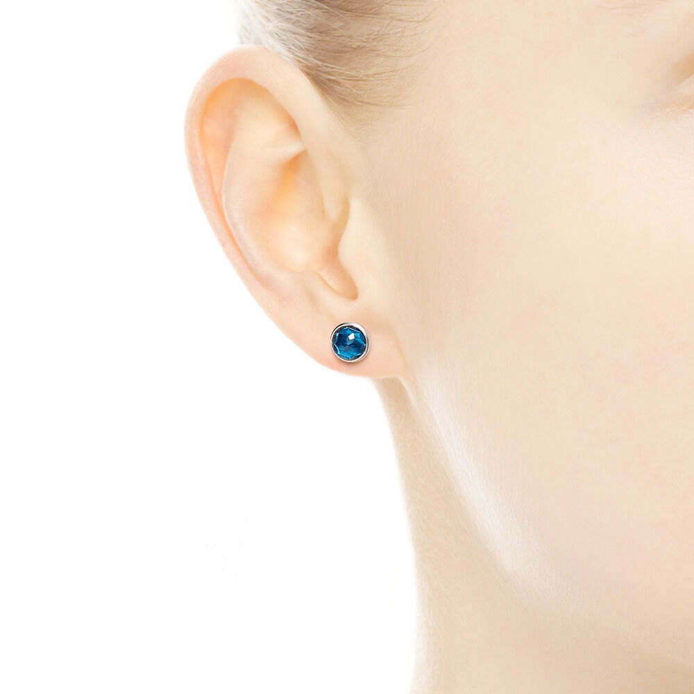 gold stud oval ge december loading blue birthstone topaz zoom earrings