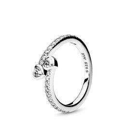 Forever Hearts Ring, Sterling silver, Cubic Zirconia - PANDORA - #191023CZ