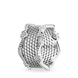 Lace of Love Ring, Sterling silver, Cubic Zirconia - PANDORA - #197706CZ