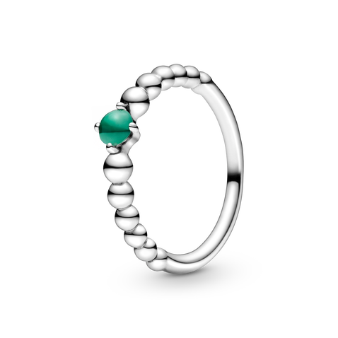 May Birthstone Beaded Ring