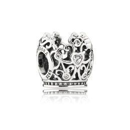 Disney, Princess Crown Charm, Sterling silver, Cubic Zirconia - PANDORA - #791580CZ