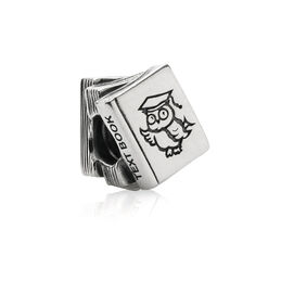 Study Book Charm, Sterling Silver Oxidised - PANDORA - #790536