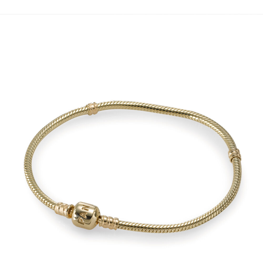 Pandora Charm Bracelet 14ct Gold Shop Pandora Gb