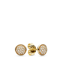 Dazzling Droplets Earrings, Yellow Gold 14 k, Cubic Zirconia - PANDORA - #256212CZ