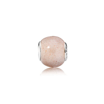 ESSENCE Love Charm, Sterling silver, Silicone, Pink, Moonstone - PANDORA - #796009MSP