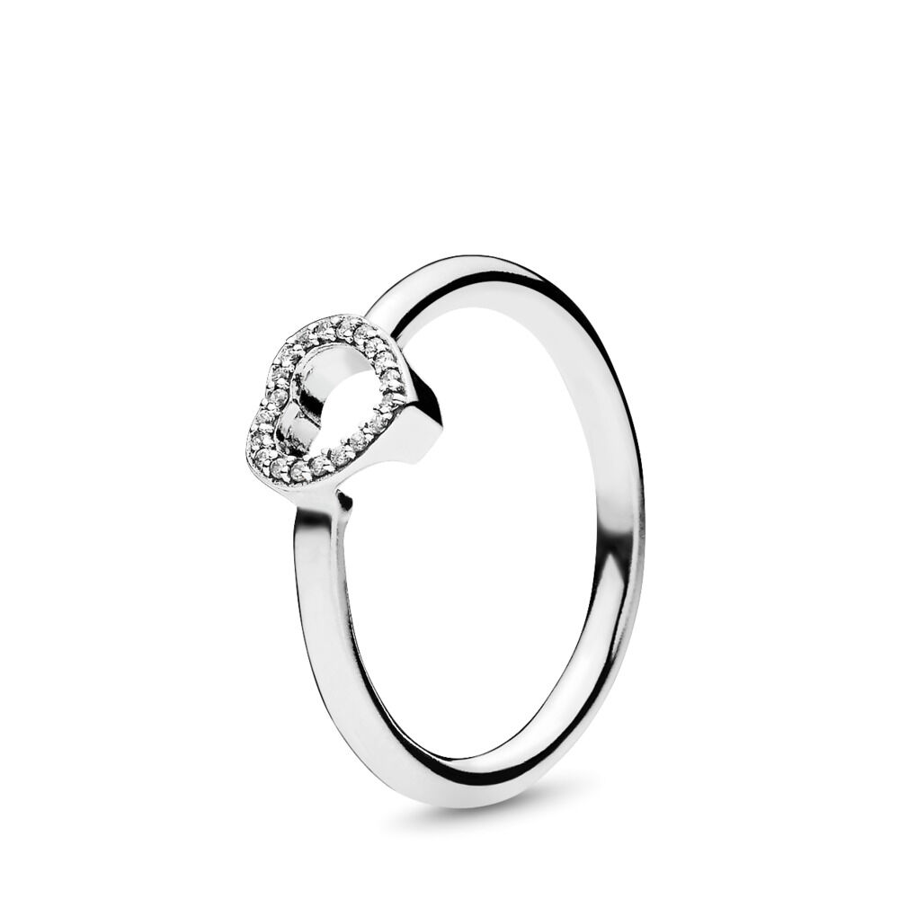 4a267518b Puzzle Heart Frame Ring, Sterling silver, Cubic Zirconia – Shop P
