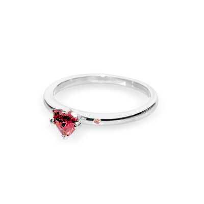 0d5c9a174 Sparkling Red Heart Ring, Sterling silver, Pink, Cubic Zirconia –