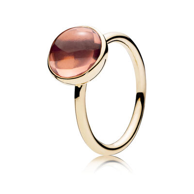 Blush Poetic Droplet Ring