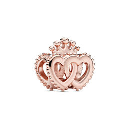 United Regal Hearts Charm, PANDORA Rose - PANDORA - #787670