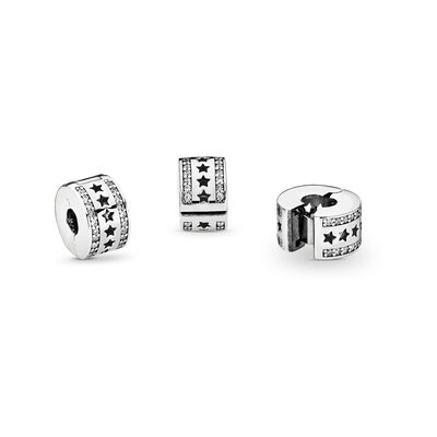 Starry Formation Clip, Sterling silver, Cubic Zirconia - PANDORA - #796381CZ