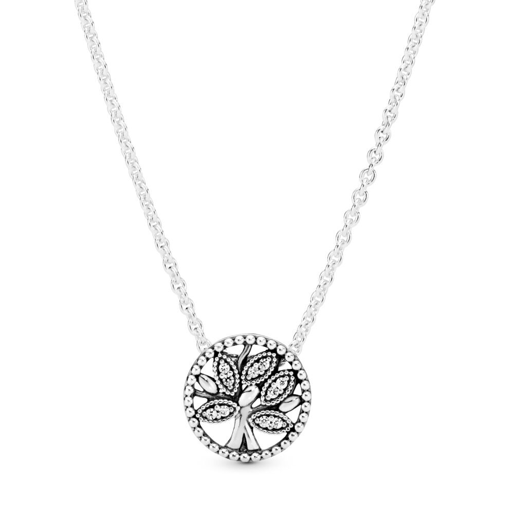 Pandora Tree Of Life Necklace Sterling Silver Silicone