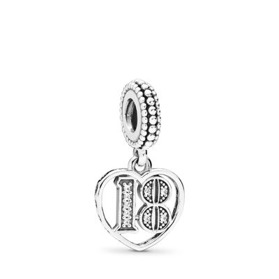 2ea403162 18 Years of Love Pendant Charm, Sterling silver, Cubic Zirconia –