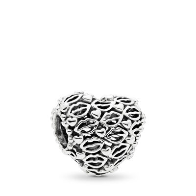 Love and Kisses Charm, Sterling silver - PANDORA - #796564