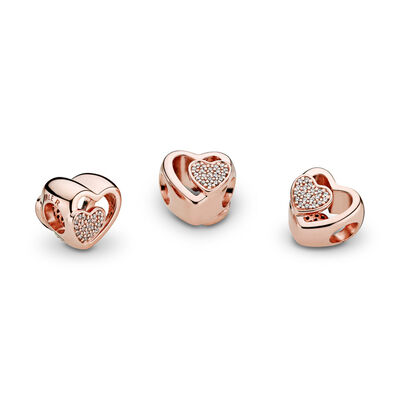 Joined Together Charm, PANDORA Rose, Cubic Zirconia - PANDORA - #781806CZ