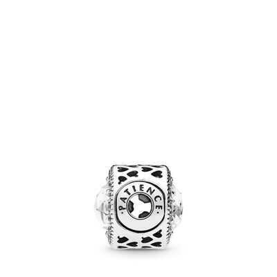 ESSENCE Patience Charm, Sterling silver, Silicone, Cubic Zirconia - PANDORA - #796298CZ