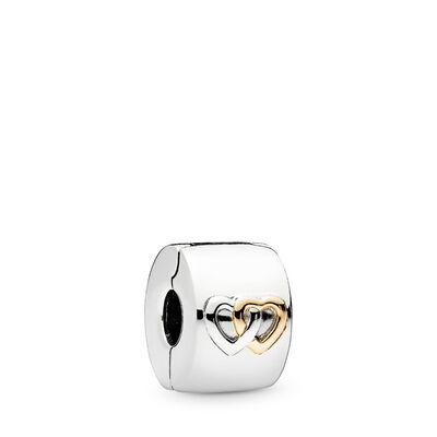 Hearts Aglow Clip, Two Tone - PANDORA - #796266