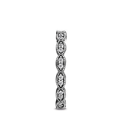 Band of Shimmering Leaves Ring, Sterling silver, Cubic Zirconia - PANDORA - #190923CZ