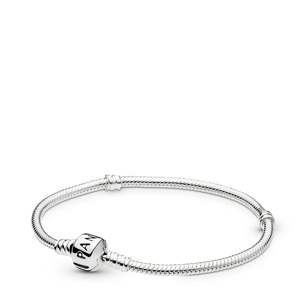 6953ab28f Moments Snake Chain Bracelet, Sterling silver – Shop PANDORA GB