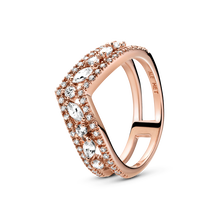 Sparkling Marquise Double Wishbone Ring
