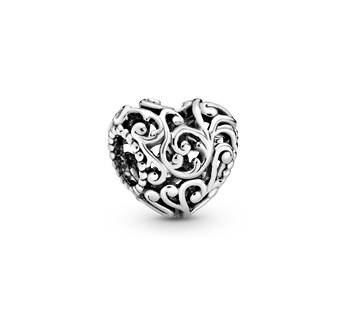 Regal Openwork Heart Charm