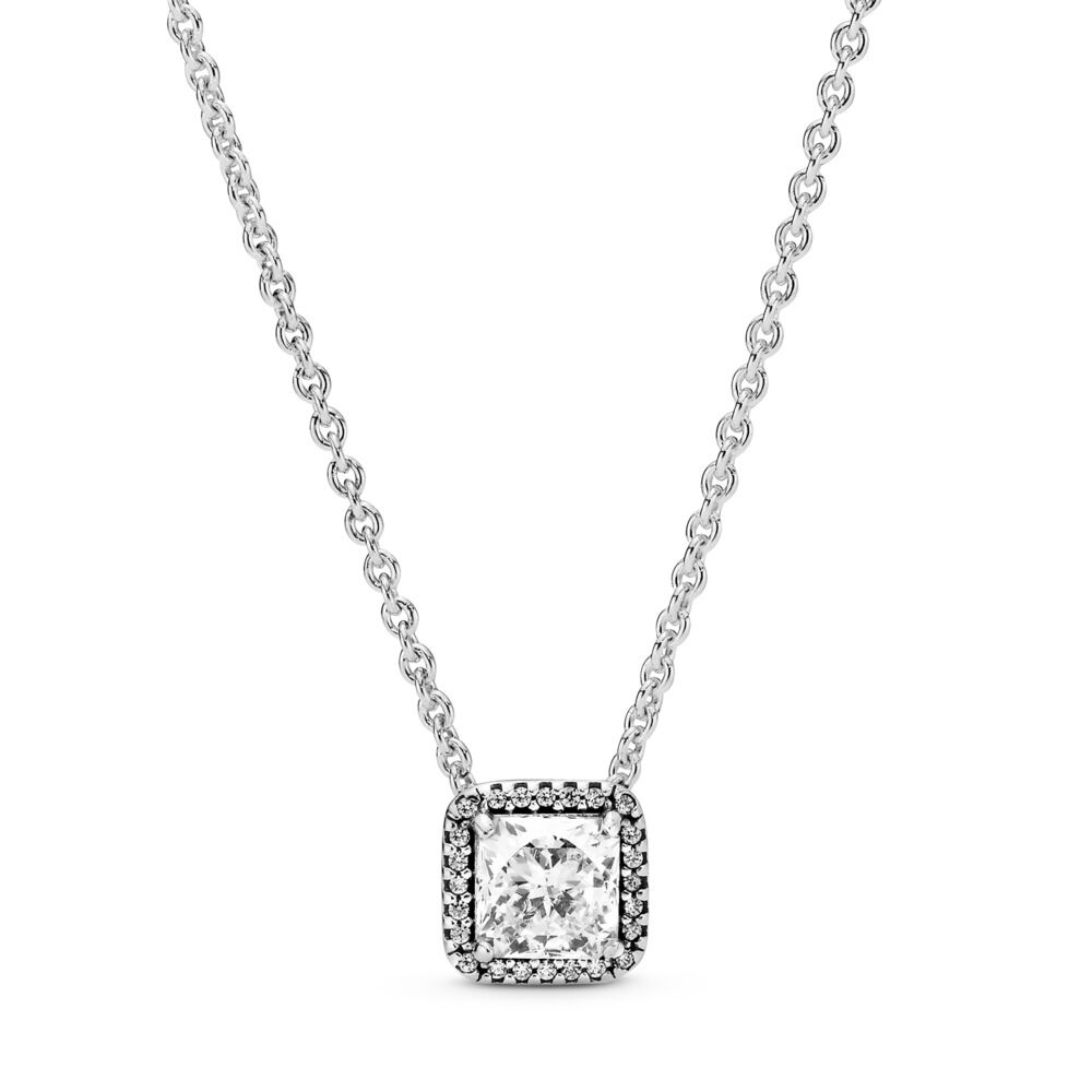 Timeless Elegance Necklace, Sterling silver, Cubic