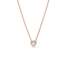 Sparkling Heart Collier Necklace