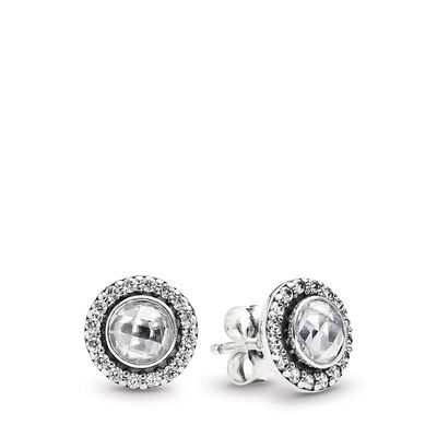 Statement Sparkling Stud Earrings