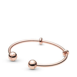 Moments PANDORA Rose Open Bangle, PANDORA Rose, Silicone - PANDORA - #586477