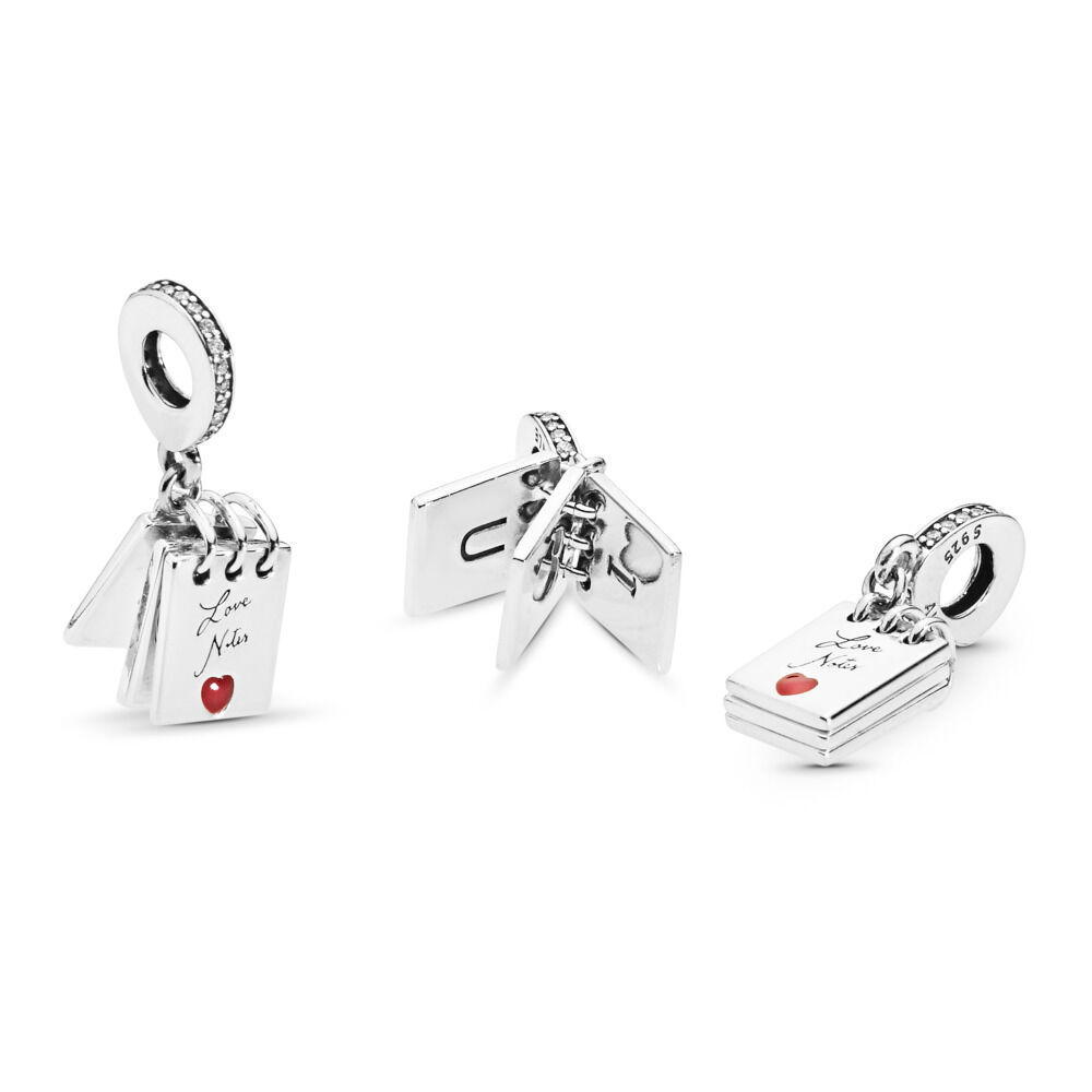 abf0bcc01 Love Notes Pendant Charm, Sterling silver, Enamel, Cubic Zirconia