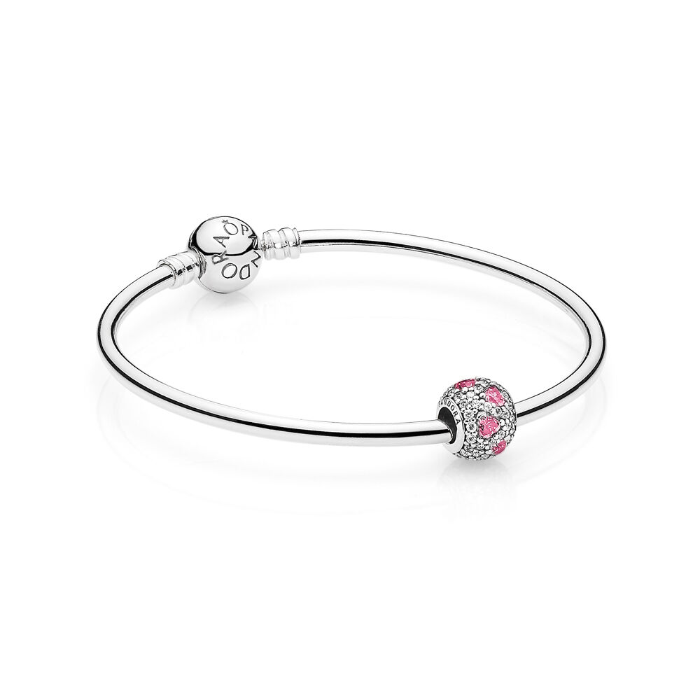 your silver life heart bracelet agate harmony charm pink to products harmonize a for on