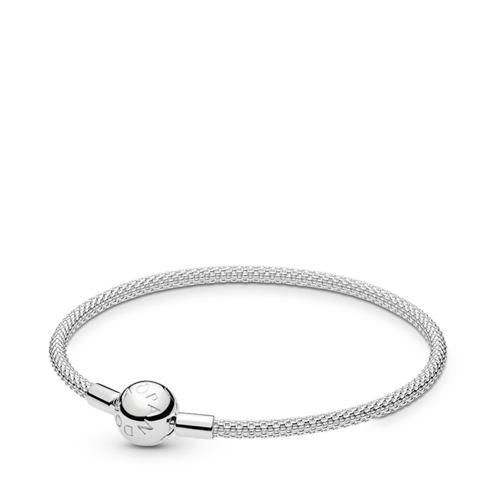 4b626f66b Moments Mesh Bracelet, Sterling silver – Shop PANDORA GB