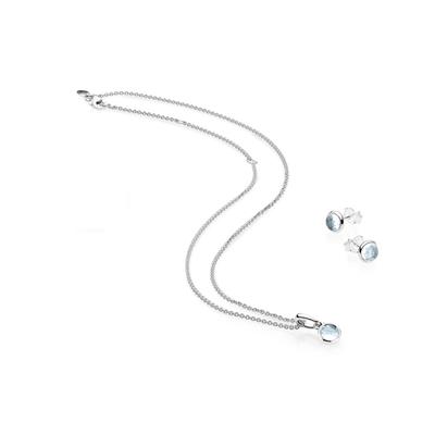 MARCH BIRTHSTONE DROPLET GIFT SET