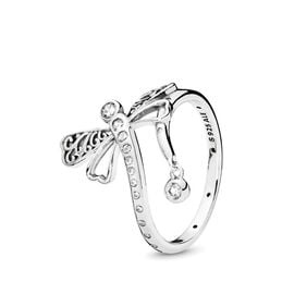 Dreamy Dragonfly Ring, Sterling silver, Cubic Zirconia - PANDORA - #197093CZ