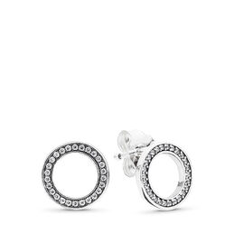 Forever PANDORA Stud Earrings, Sterling silver, Cubic Zirconia - PANDORA - #290585CZ