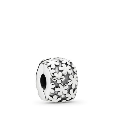 Flower Burst Clip, Sterling Silver Oxidised - PANDORA - #790533