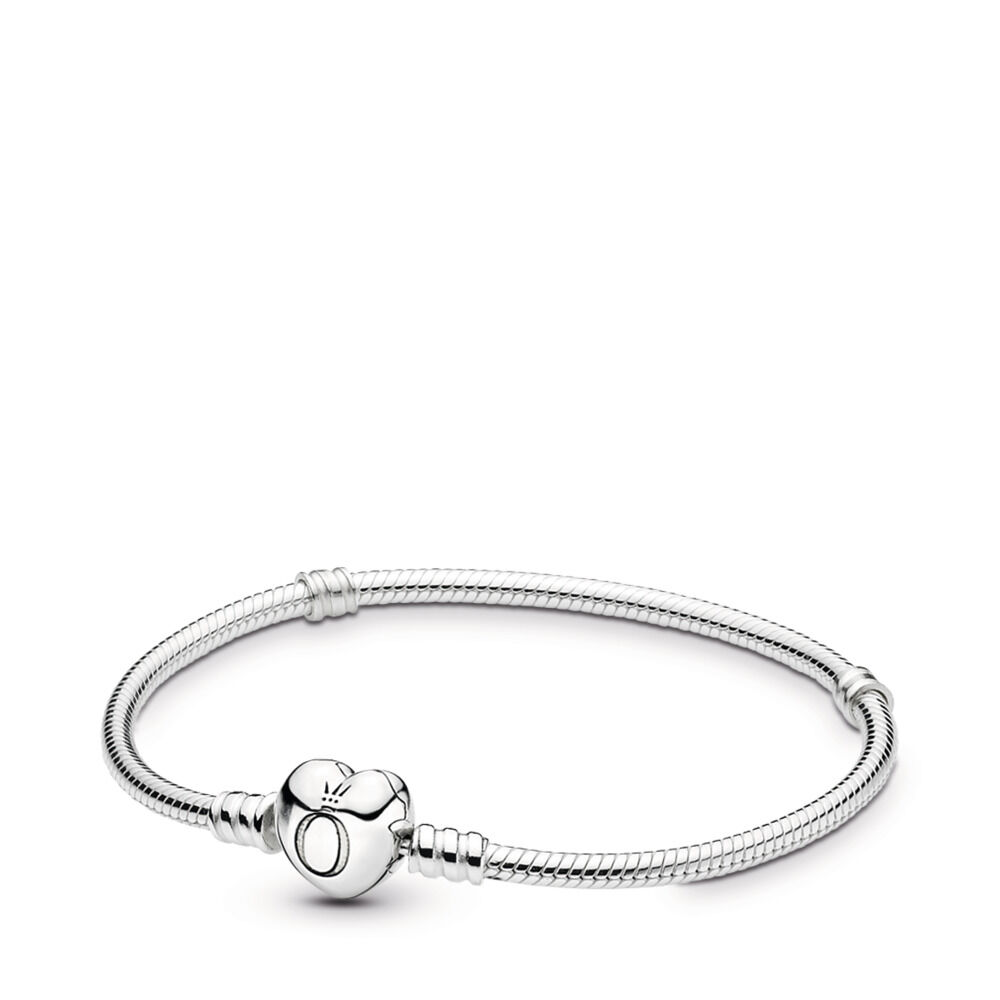 7bf884430 Moments Heart & Snake Chain Bracelet, Sterling silver – Shop PAND