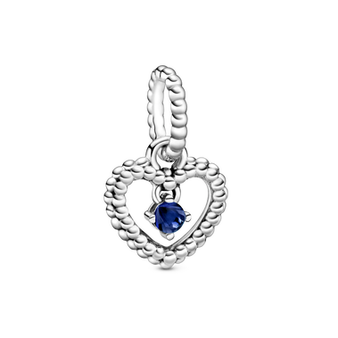 September Birthstone Heart Dangle Charm