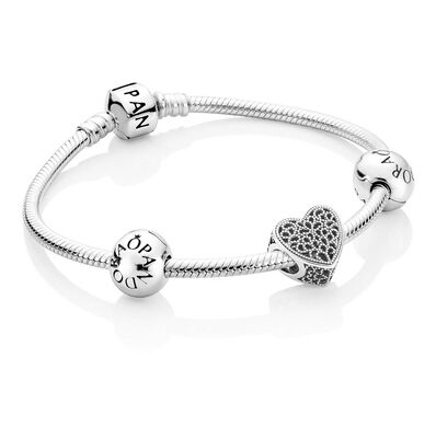 a charm rose image silver heart gold plated sterlina bangles milano bangle