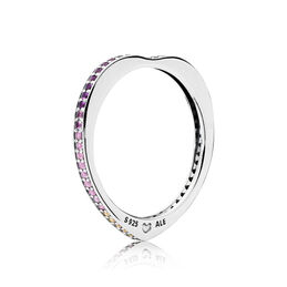 Multi-colour Arc of Love Ring, Sterling silver, Blue, Mixed stones - PANDORA - #197095NRPMX