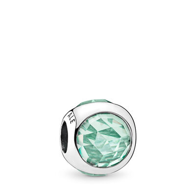 Icy Green Radiant Droplet Charm, Sterling silver, Green, Crystal - PANDORA - #792095NIC