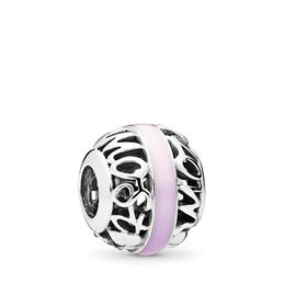 Degrees of Love Charm, Sterling silver, Enamel, Pink - PANDORA - #797244ENMX