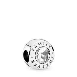 Forever Family Charm, Sterling silver, Cubic Zirconia - PANDORA - #791884CZ