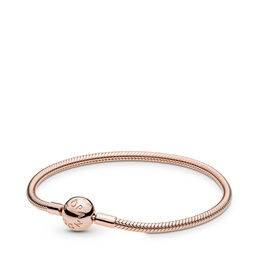 Moments Smooth PANDORA Rose Clasp Bracelet, PANDORA Rose - PANDORA - #580728
