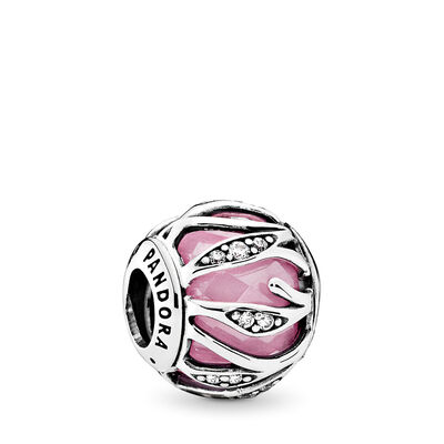 Pink Nature's Radiance Charm, Sterling silver, Pink, Cubic Zirconia - PANDORA - #791969PCZ