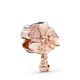 Wildflower Meadow Charm, PANDORA Rose, Enamel, Pink, Mixed stones - PANDORA - #787026NPR