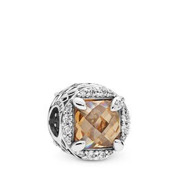 Radiant Grains of Energy Charm, Sterling silver, Gold, Cubic Zirconia - PANDORA - #797650CCZ